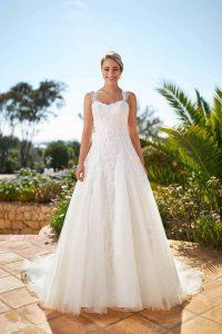 robe de mariée trapèze showroom du mariage normandie
